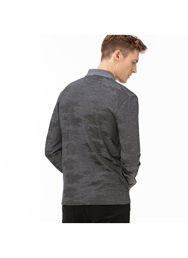 Lacoste Erkek Desenli Sweatshirt PH2042.42S Gri